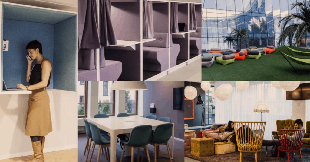 Tidigare projekt med kontorsmöbler och design