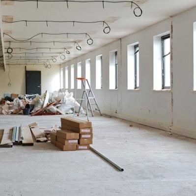 Renovering på kontor