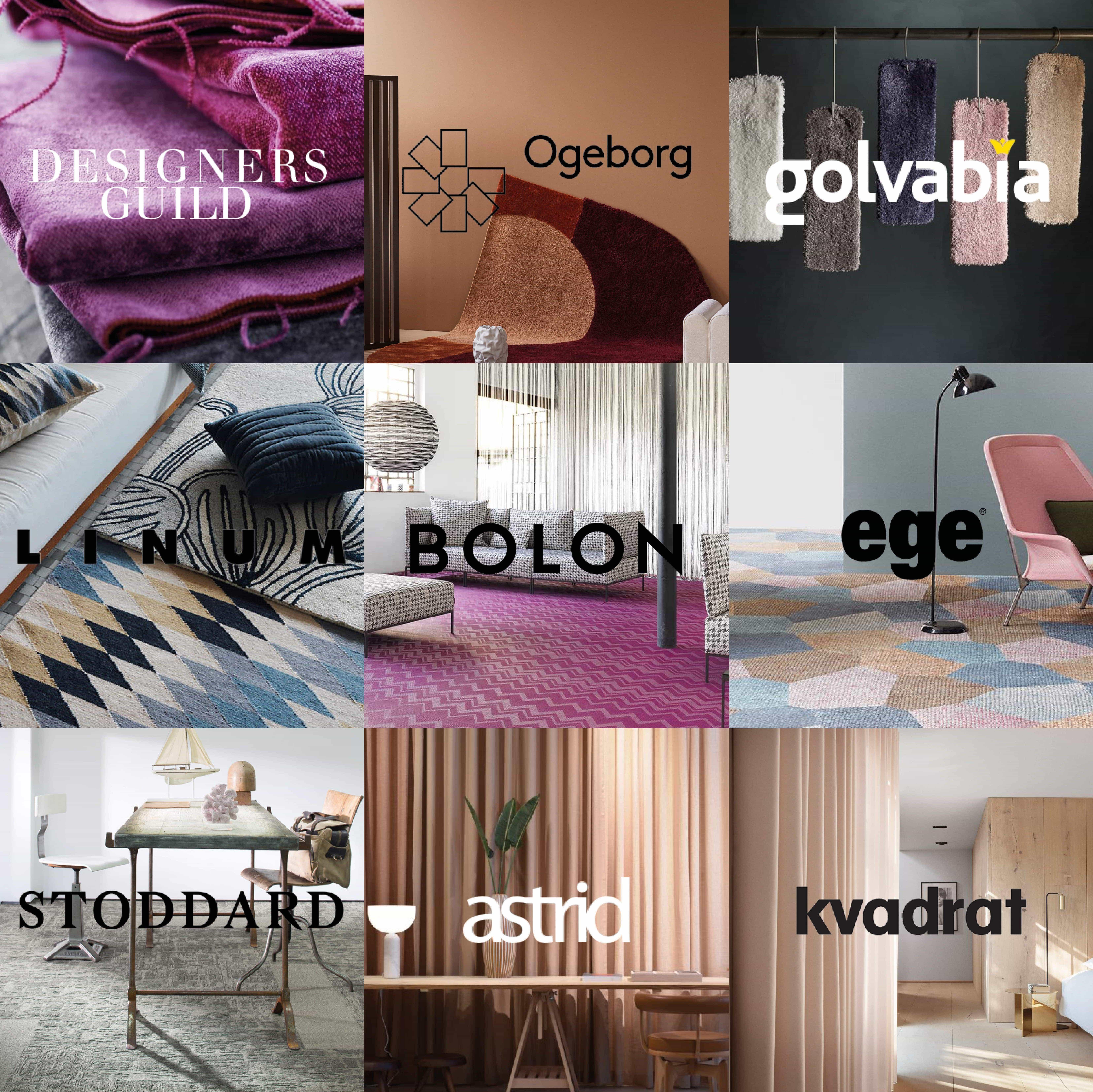 textilvarumärken vi erbjuder